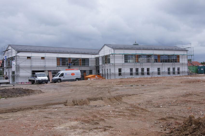 Begegnungszentrum Niederwinkling im Rohbau